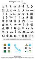 Simply Icon Set 3_Signage by femographi
