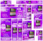 Web Banner Pack Violet