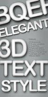 3D Text Style - 5 Dimensions