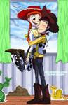 'Woody's Hugging Me!' coloured
