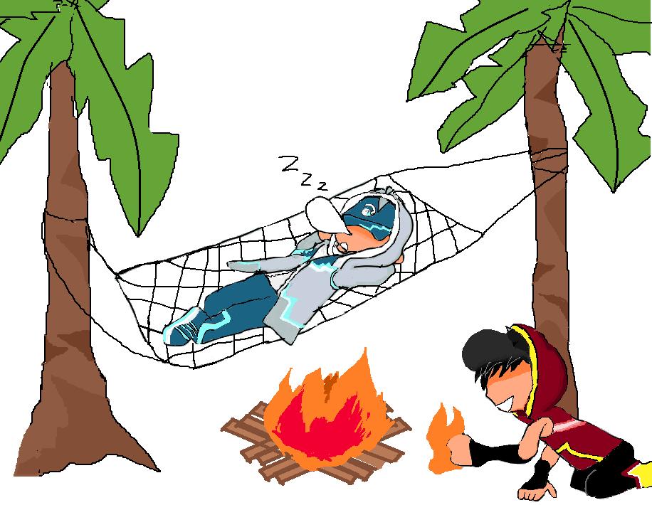 Boboiboy Ice Vs Blaze Nap Time By Kurobalinhchi On Deviantart