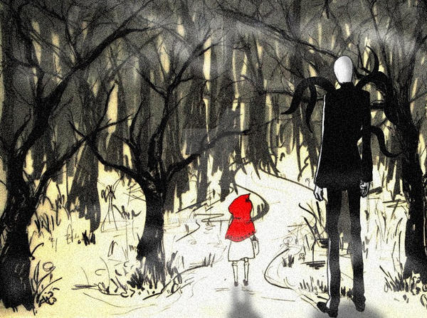 Slender in Woods. by Alukard1991