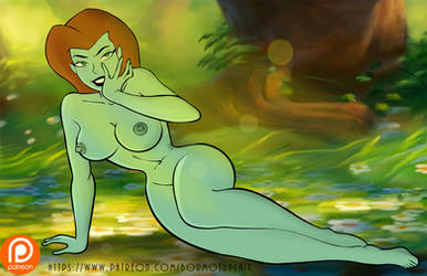 Naked Poison Ivy in Forest by Alukard1991