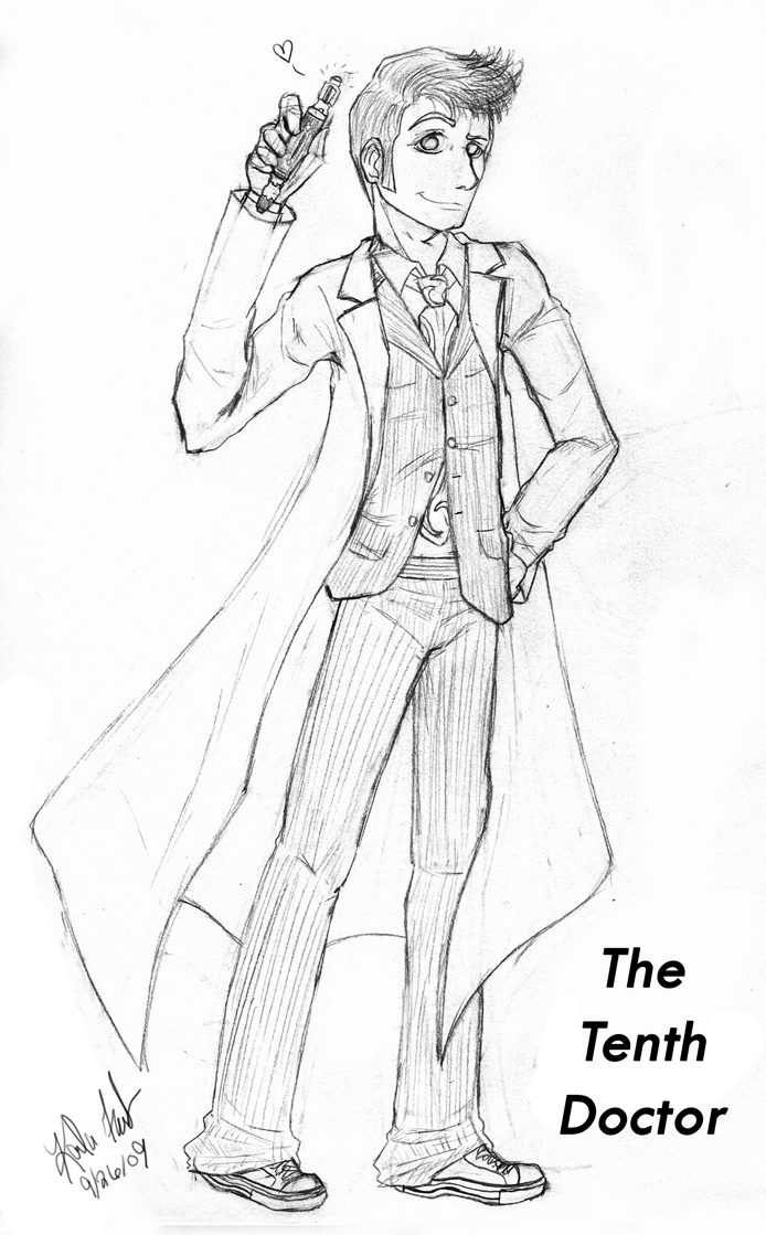 Coloring Pages Tenth Doctor