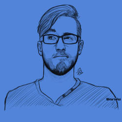 Beardholder Portrait Sketch