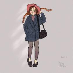 Sketch some girl by Nedika