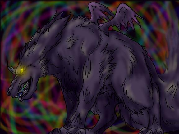 The mysterious demon dog by FantasyDemonAngel