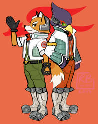 Fox and Falco by f0x-hunt