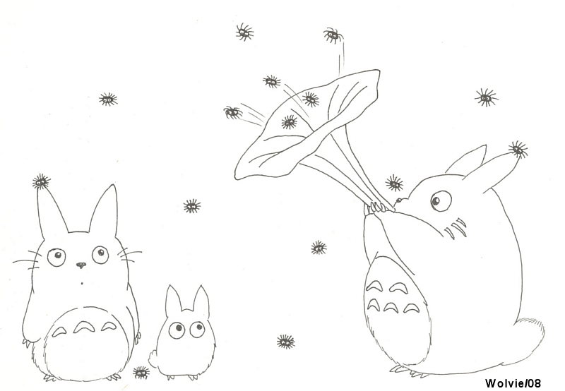 my neighbour totoro and smut by chibithekla on deviantart - Neighbor Totoro Coloring Pages