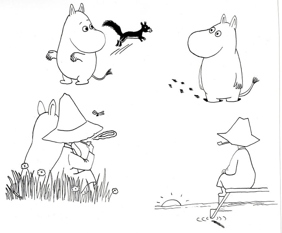 moomin doodle 2 by - photo #1