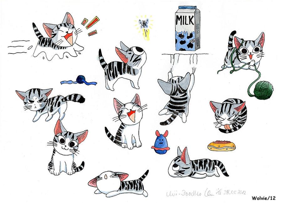 Cat chi doodles by chibithekla on deviantart - Dessin de chi ...