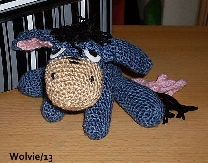 Crochet Amigurumi Eeyore : crochet Amigurumi Disney Eeyore by ChibiThekla on DeviantArt
