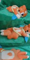 Floatzel Laying Plush by Glacideas