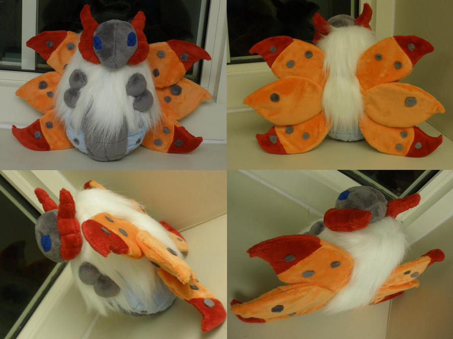 Volcarona Plush by GlacideaDay