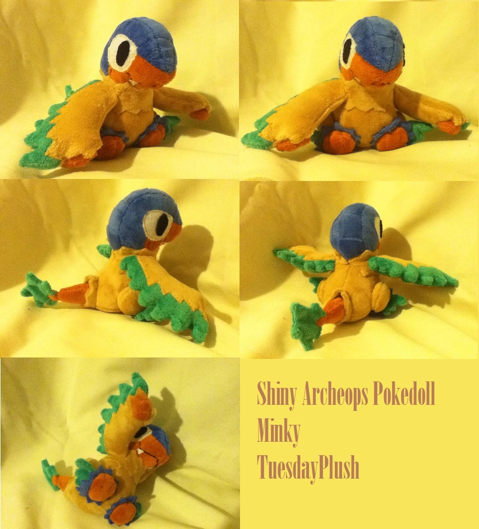 Shiny Archeops Pokedoll by GlacideaDay