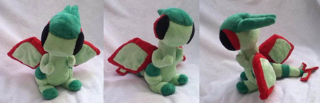 Flygon Pokemon Time plush by GlacideaDay