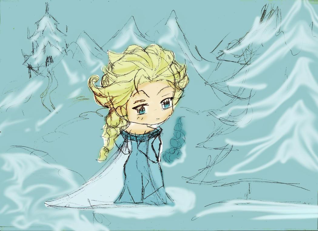 Chibi Elsa by HaChan