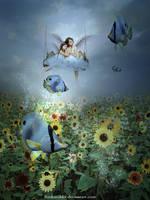 Small angels on summer trip by Ruskatukka