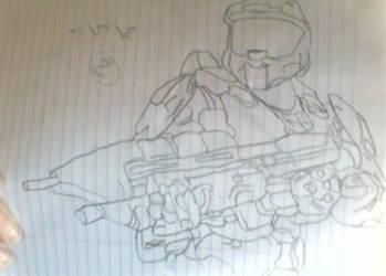 halo 4  reacon spartan by Moonshineemo