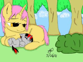 Shadow Aurora as a Foal mlp by SleepyShadowArtist