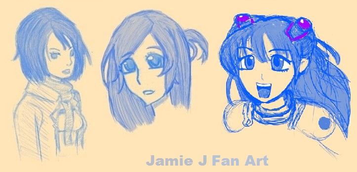 anime girls (fan art) by jjartstudio