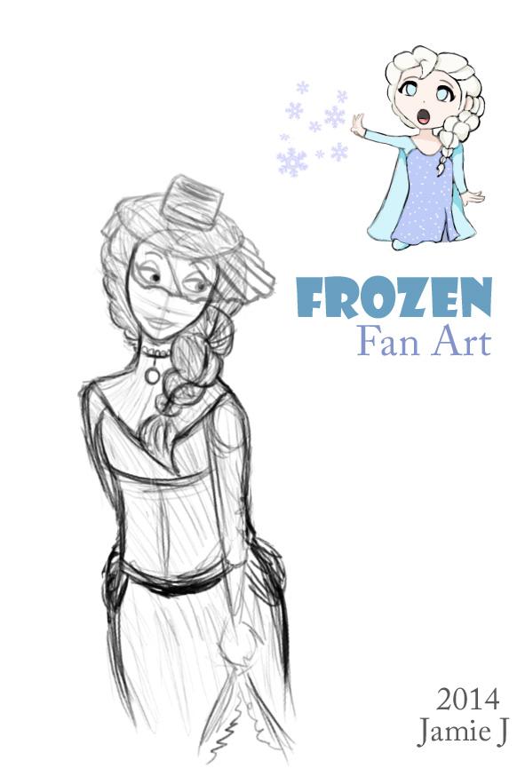 Frozen  Fan Art by jjartstudio