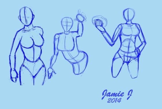 Sketches of lady's by jjartstudio