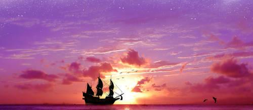 Evening-Sail by g0rg0d