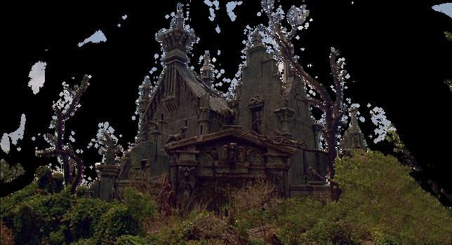 Castle Edward Scissorhands Stock PNG