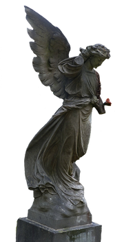 Angel Statue stock PNG 2