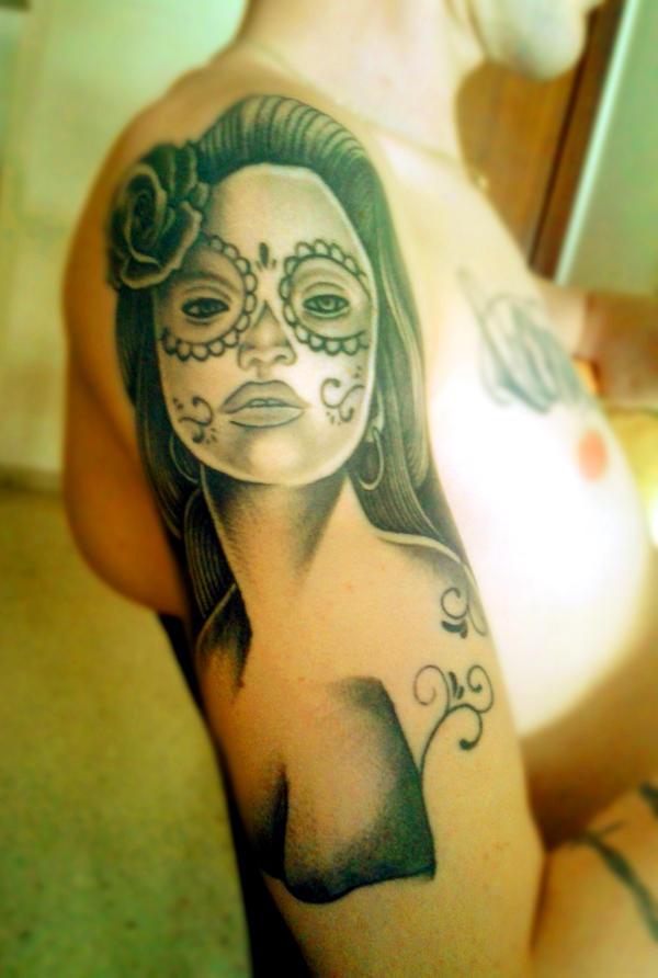 La Catrina tattoo by Shadow-of-Nemo