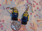 Two-eyed Minion Earings