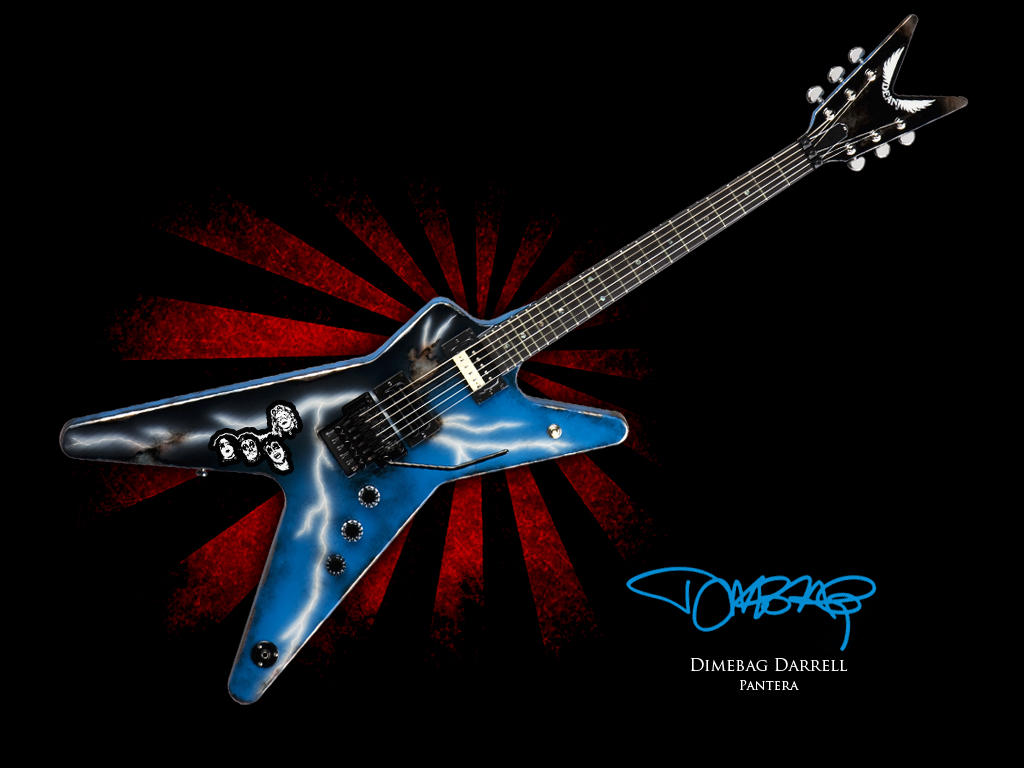 Dimebag Guitar Wallpaper By Bmgrafico On Deviantart