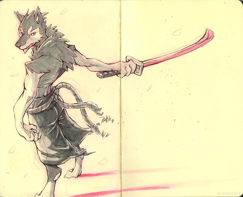 Husky Swordsman by Orangetavi