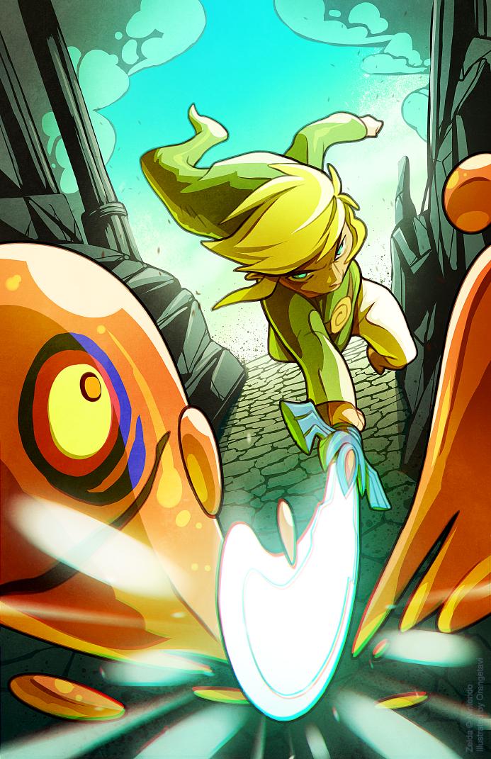 Toon Link on a Mission by Orangetavi