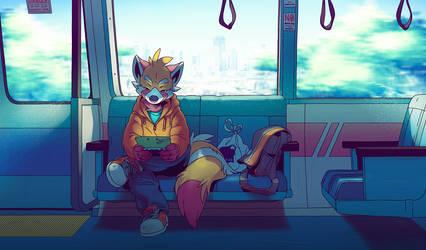 Train Ride by Orangetavi