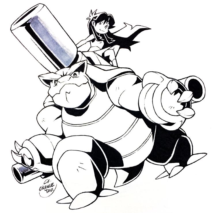 Inktober Day 7 - Mega Blastoise by Orangetavi