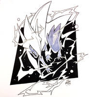 Inktober Day 12 - Mega Manectric by Orangetavi