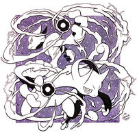 Inktober Day 31 - Mega Mewtwo XY