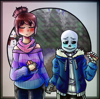 sans x frisk (Collab with To4iCat) by jjaydazo