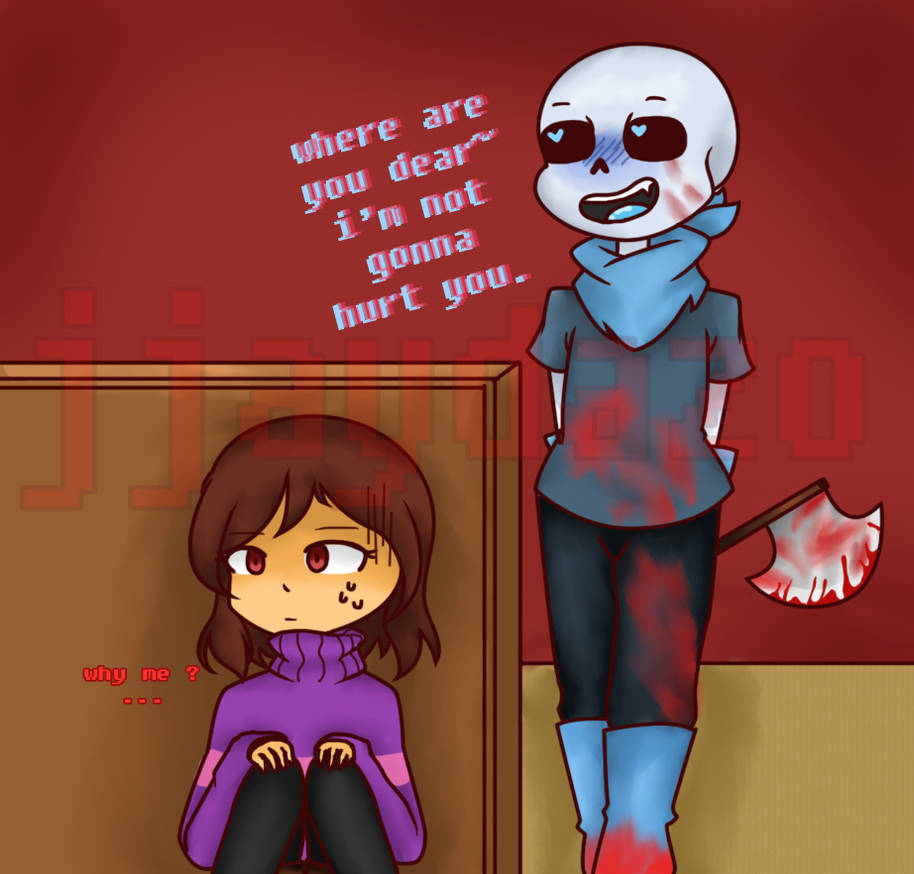 Where Are you? (underswap sans x frisk) by jjaydazo on DeviantArt