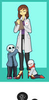 don't leave us!! (scify frisk and baby bones)