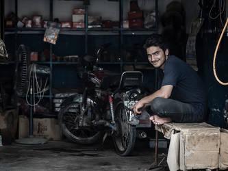 Motorcycle Mechanic by InayatShah