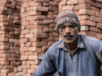 Brick Dust Face - I by InayatShah