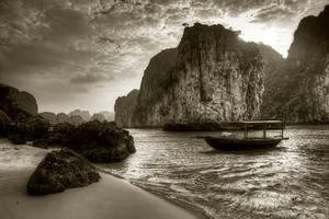 Ha Long Bay - Sepia by InayatShah