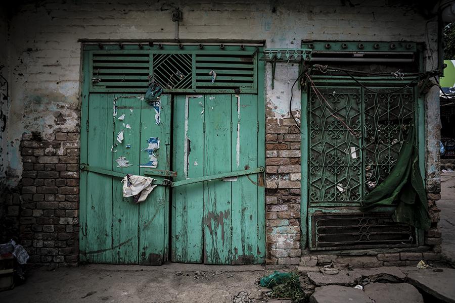 Old Green Door by InayatShah