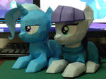 papercraft MaudPie and Trixie