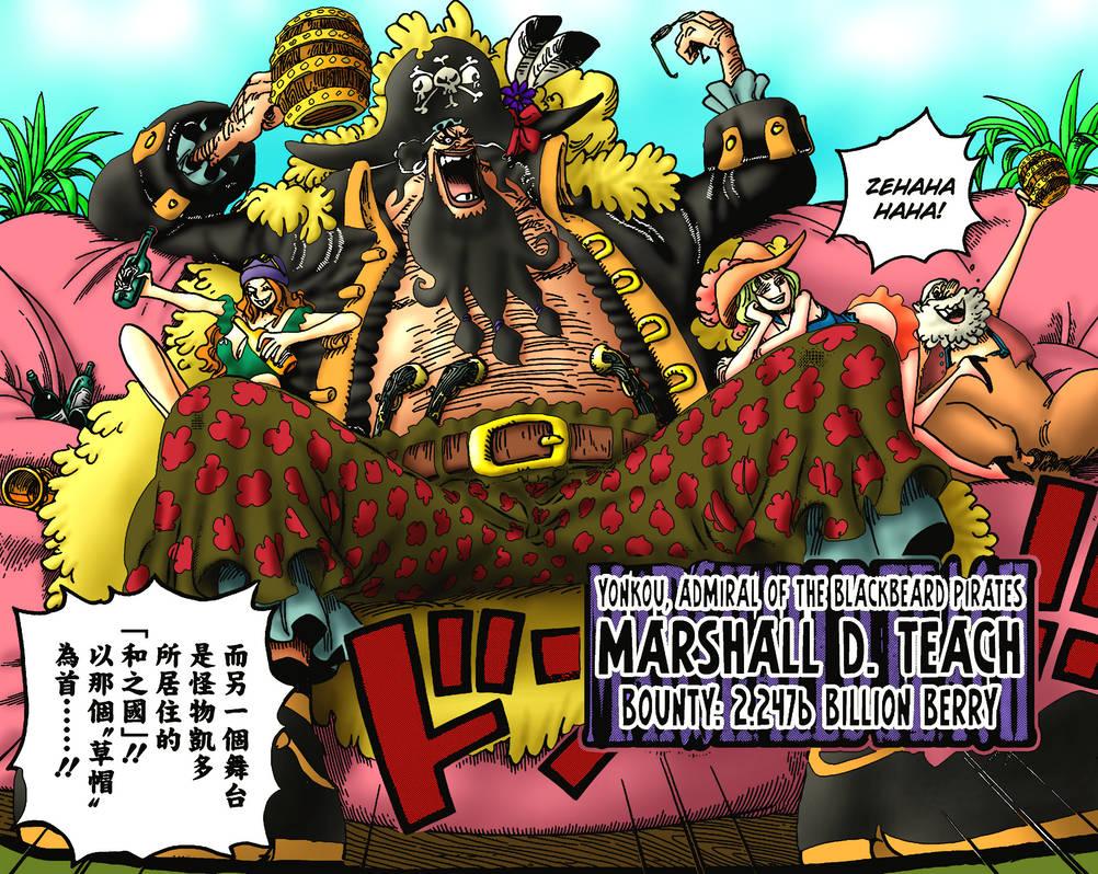 One Piece Color - Marshall D. Teach, Post-Timeskip by ...