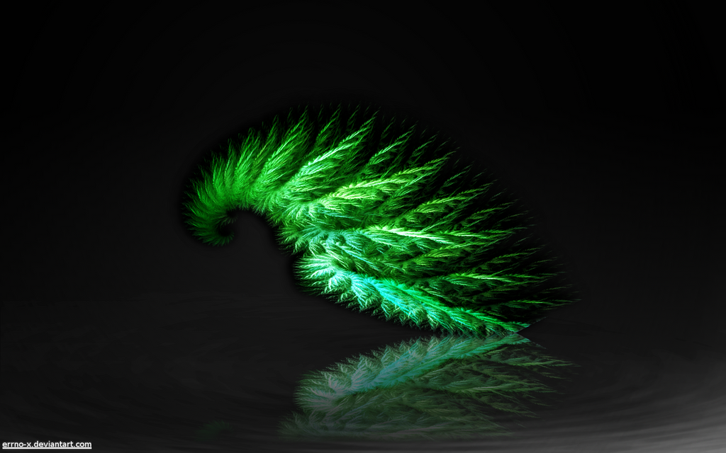 Wallpaper 7 - Green Spiral by errno-x on deviantART