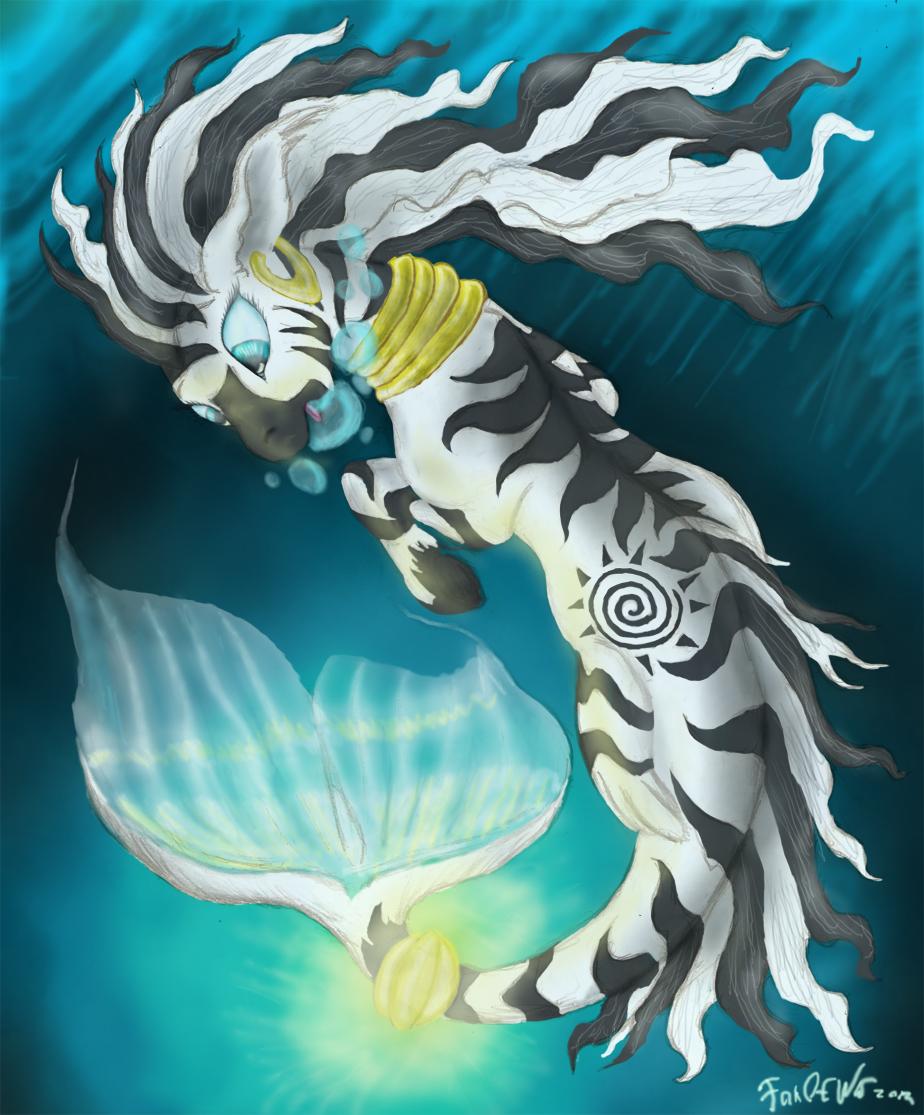 Seapony Zecora by FoxOFWar